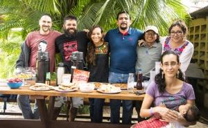 Ethnobotany break during ALLSA 2015, led by Carlos.